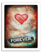 Image of 8x10&quot; Paper Print - Hearts &amp; Headlines - Forever