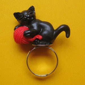 Image of Kitty Cat Ring (various colours) SALE.