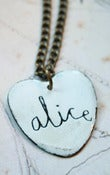 Image of Personalised Heart Enamel Name Necklace