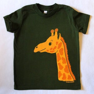 Image of GIRAFFE T-SHIRT OLIVE