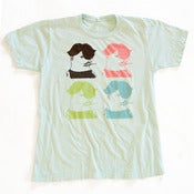 Image of Four French Guys adult tee - seafoam