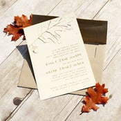 Image of Falling Leaves Invitation Set