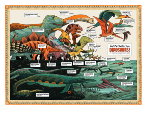Image of PRINT :: Behold! The Dinosaurs!