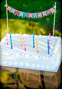 Image of Hand-made Birthday Cake Mini-Bunting Garland