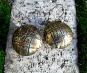 Textured Brass Lentil Earrings--Metal Musings