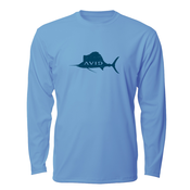 Image of Distressed Sailfish AVIDry L/S - Light Blue