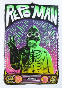 Image of Repo Man - Hollywood Babylon Screening 2011 - Silkscreen Poster