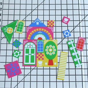 Image of Colourful House Magnets