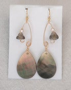 Image of fish lure inspired earrings~ gold and abalone