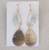 Image of fish lure inspired abalone shell &amp; amazonite in Gold