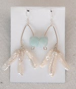 Image of fish lure inspired stick pearl &amp; amazonite