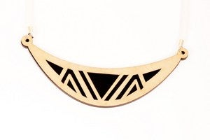 Image of Geometric navajo birch necklace