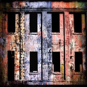 "Image of 12x12"" Panel Print - Photo Series - Angel Island Windows 2 Red"