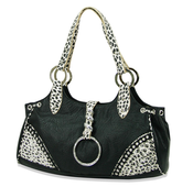 "Image of The ""Ms. Page"" - Black & White Purse"