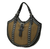 "Image of The ""Metal Maven"" - Burnt Sienna & Black Purse"