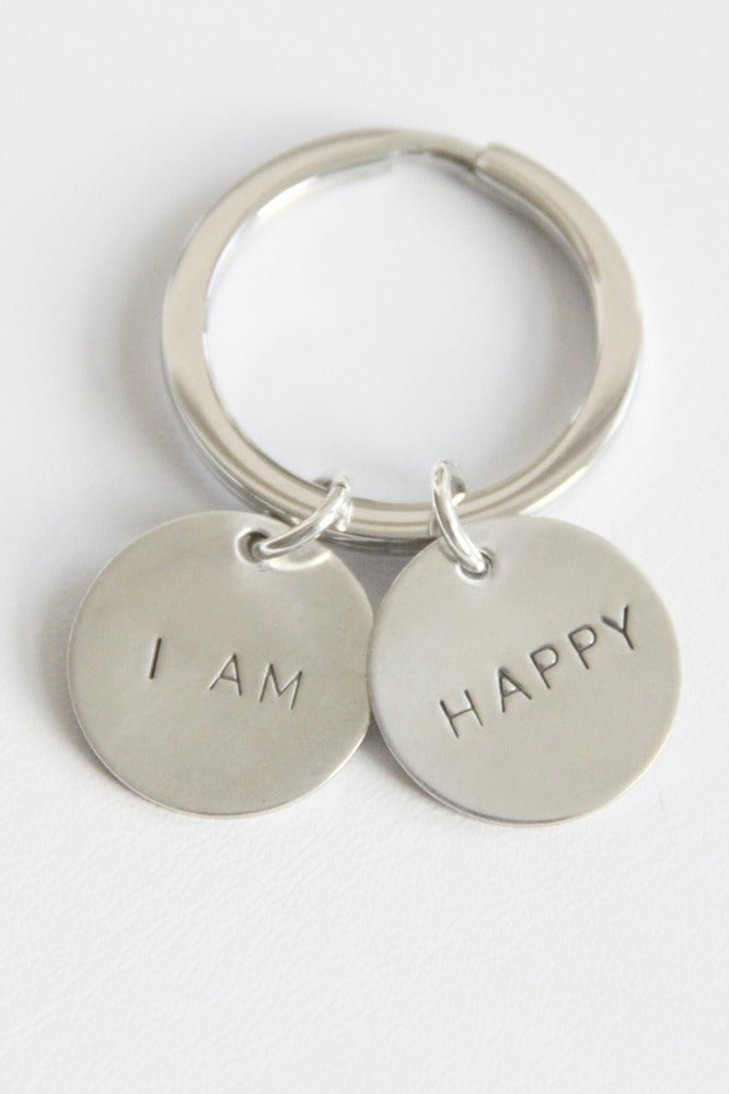 Image of I AM HAPPY KEY CHAIN