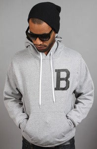 Image of Letterman B Hoodie Gray