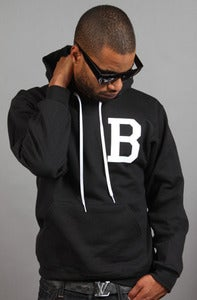Image of Letterman B Hoodie Black