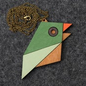 Image of Geometric Bird - Sparrow Necklace
