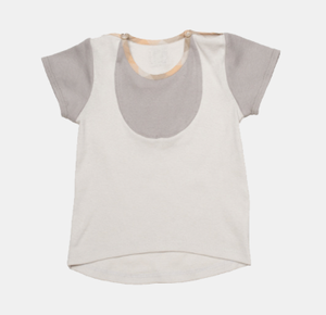 Image of Bib T- Shirt - Sand+Grey