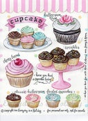 "Image of ""Cupcakes"" Full Color Sticker Sheet"