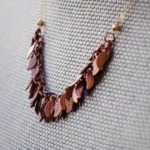 AUTUMN - Copper | Harper Street :  necklace fashion handmade leaves