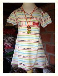 Image of Bright Stripe Wrap Dress