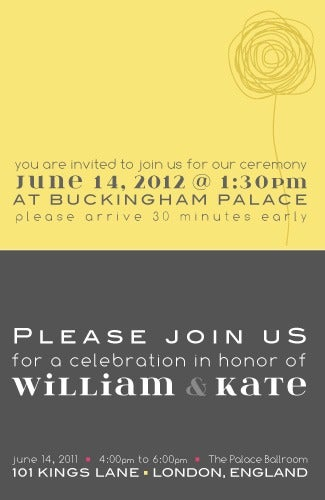 Image of Modern Royal-Invitation Inserts