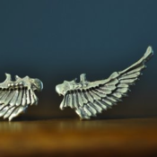 Image of Sterling Silver Robot Wing Studs