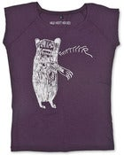 Image of 'Grrrrrrrr Bear AKA Brian' on an Aubergine Bamboo Fair Wear T-Shirt.