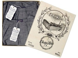 Image of Indigo Chambray Boxers (2 Pack)