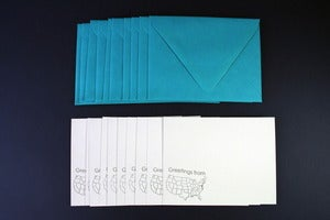 Image of Greetings From stationery set