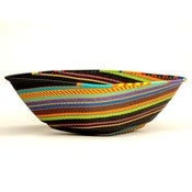 Image of Extra Large Square Basket in Black Rainbow