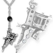 Image of Tattoo Gun Necklace w/ Swarovski Crystals- Ink n Iron!!!