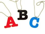 Image of Alphabet Pendant Necklace