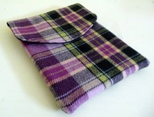 Image of Purple Plaid Wool iPad 2 Sleeve original price $34