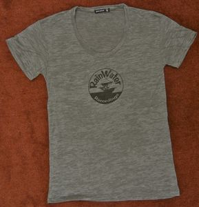 Image of RainWater Recordings Unisex Scoop Tee - Gray