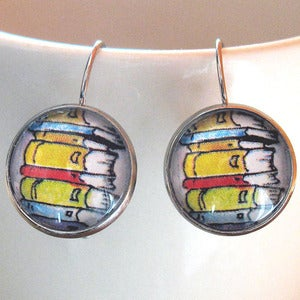 Image of Stack of Books Earrings