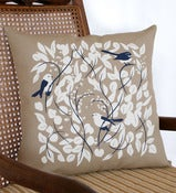 Image of Cushion Large 'Grey Fantail'