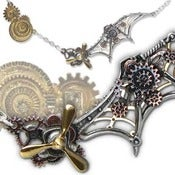 Image of Mechanical Pendant Necklace - The Flying Machine