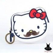 Image of HELLO KITTY MUSTACHE COIN BAG