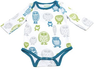 Image of Organic Bodysuit - Owl, Multi