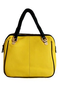 Image of Yellow Leather 'SQUARE' Bag