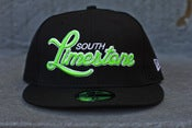 Image of SOUTH LIMESTONE new era fitted kelly black