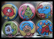 "Image of Set of Six 1"" Buttons"