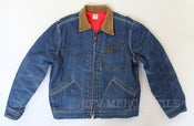 Image of Vintage Lee 191-LB Union Made Sanforized Indigo Denim Lined Work Jacket Size 42 M/L