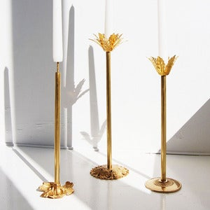 Image of Brass Candle Holders, Set of 3