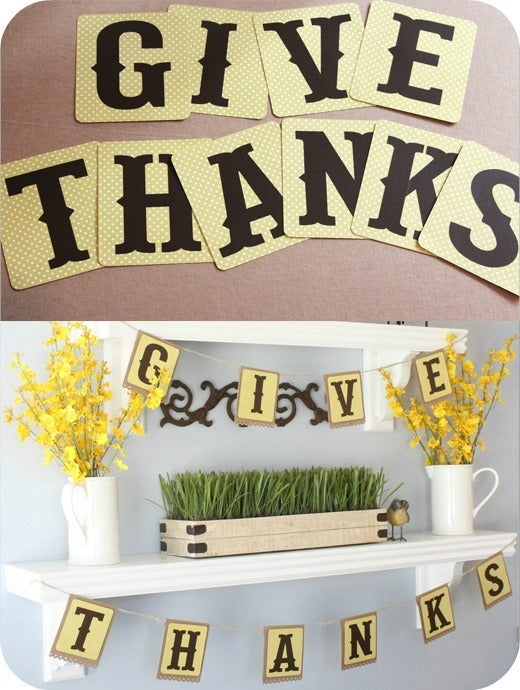 Image of GIVE THANKS lettering