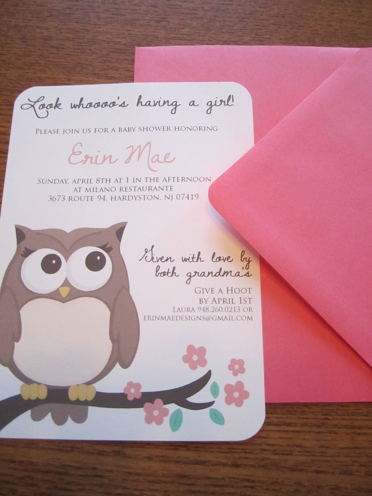 30 00 a modern and simple owl themed baby shower invitation to catch