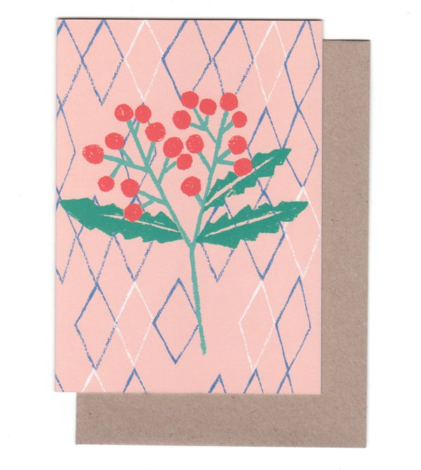 Image of Holly Greeting Card